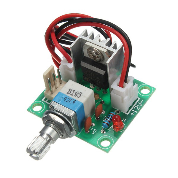 Lm317 voltage regulator board fan speed control with for Lm317 motor speed control