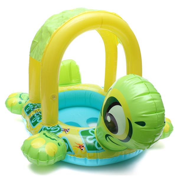 Kids Tortoise Shape Inflatable Pool Float Seat Boat Water Swim Ring