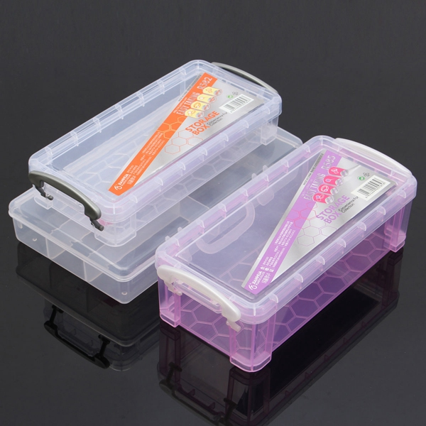Nail Art Organizer: Plastic Cosmetic Nail Art Pill Storage Organizer Container
