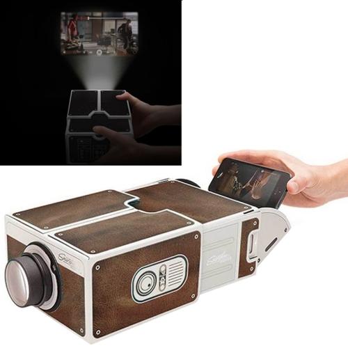 Cardboard smartphone projector 2 0 diy mobile phone for Mobile pocket projector