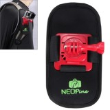 Fashionable 360 Degree Rotation Diving Material Camera Belt / Shoulder Harness for GoPro HERO4 /3+ /3 /2 /1,Xiaomi Yi,SJCAM SJ6000 / SJ5000 / SJ5000 WIFI / SJ4000 Sport Camera (Red)
