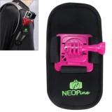 Fashionable 360 Degree Rotation Diving Material Camera Belt / Shoulder Harness for GoPro HERO4 /3+ /3 /2 /1,Xiaomi Yi,SJCAM SJ6000 / SJ5000 / SJ5000 WIFI / SJ4000 Sport Camera (Magenta)