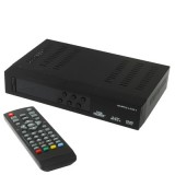 1080P HD DVB-T Set Top Box with Remote Controller, Support Recording Function and USB 2.0 Interface, MPEG-2 / MPEG-4 / H.264 Compression Format, Support SD Card
