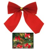 12pcs Christmas Decoration Ornaments Bowknot Back Golden Twist Tie, Height: 6cm  (12pcs in one packaging, the price is for 12pcs) (Red)