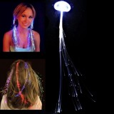 Cool White Color Braid Luminous Pigtail Hair Clips LED Light Fiber for KTV / Bars / Clubs / Christmas Activities  (Random Color Delivery)