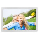 17 inch HD 1080P LED Display Multi-media Digital Photo Frame with Holder & Music & Movie Player, Support USB / SD / MS / MMC Card Input (White)