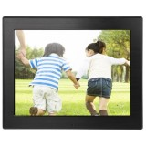 8 inch LED Display Multi-media Digital Photo Frame with Holder & Music & Movie Player, Support USB / SD / SDHC / MMC Card Input (Black)