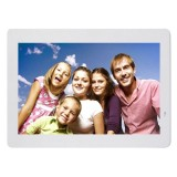 14 inch LED Display Multi-media Digital Photo Frame with Holder & Music & Movie Player, Support USB / SD / MS / MMC Card Input (White)