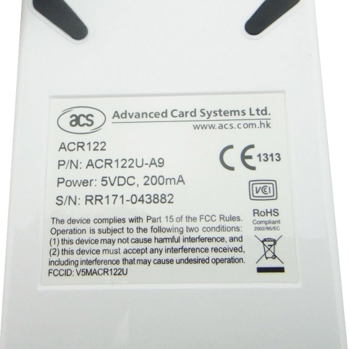 ACR122 NFC RFID USB Noncontact Smart Card Reader, Read Write Speed up to 212Kbps/242Kbps