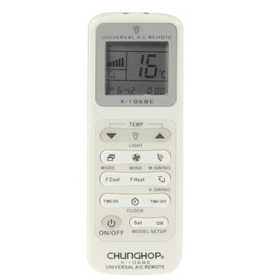 ... Chunghop Universal A/C Remote Control (K-1068E)