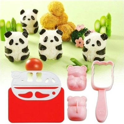 Lovely Panda Sushi Rice Mold Mould + Seaweed Cutter