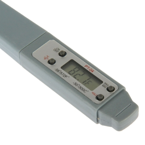 PT-04 LCD Digital Food Thermometer, Temperature Ranger: -50 to 300 Degree Celsius