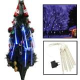 LED 8 Light Bar Meteor Shower Light-emitting Lamp for Christmas – Blue Light