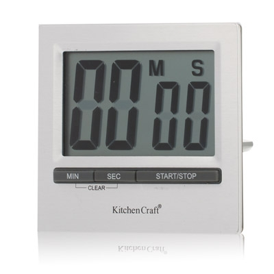 Kitchen Craft Large Display Digital Countdown Timer Silver