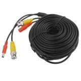 CCTV Cable, Video Power Cable, RG59 Coaxial Cable, Length: 10m (Black)