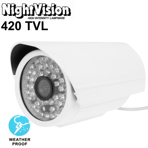 1 / 3 inch Sony 420TVL 6mm Fixed Lens Array LED & Waterproof Color CCD Video Camera without Bracket, IR Distance: 50m