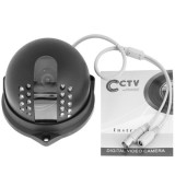 1 / 3 inch Sony 420TVL 3.6mm Fixed Color Dome Camera, IR Distance: 20m
