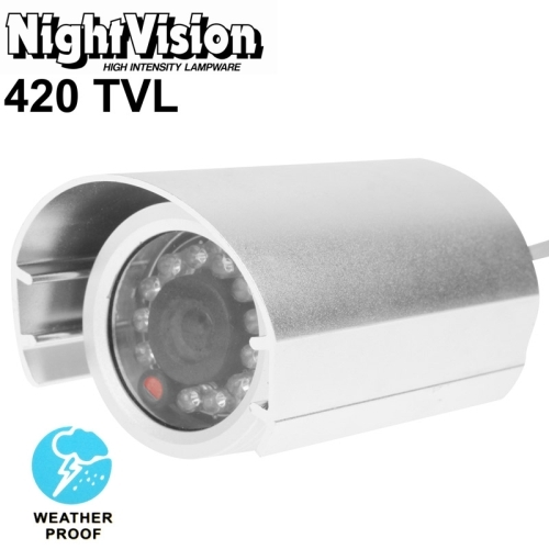 1 / 3 inch Sony 420TVL 6mm Fixed Lens Array LED & Waterproof Color CCD Video Camera without Bracket, IR Distance: 20m