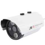 CMOS 420TVL 6mm Lens Metal Material Array LED Color Infrared Camera with 3 LED, IR Distance: 20m