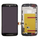 LCD Screen with Frame + Touch Screen Digitizer Assembly for Motorola Moto G (2nd Gen.) (Black)