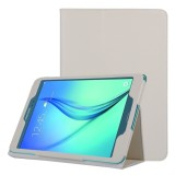 Litchi Texture Horizontal Flip Solid Color Leather Case with Two-Folding Holder for Samsung Galaxy Tab A 9.7 / T550 (White)