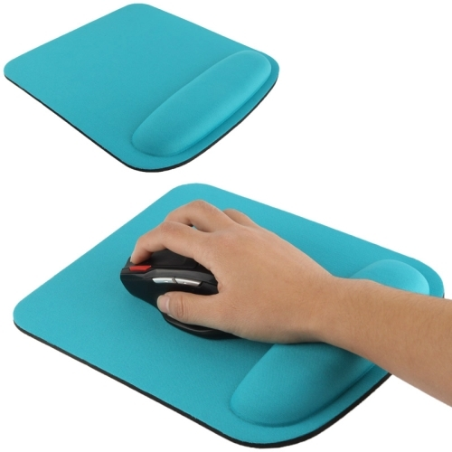 Cloth Gel Wrist Rest Mouse Pad Blue Alex Nld