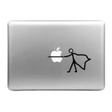 Hat-Prince Stab the Apple Pattern Removable Decorative Skin Sticker for MacBook Air / Pro / Pro with Retina Display, Size: S