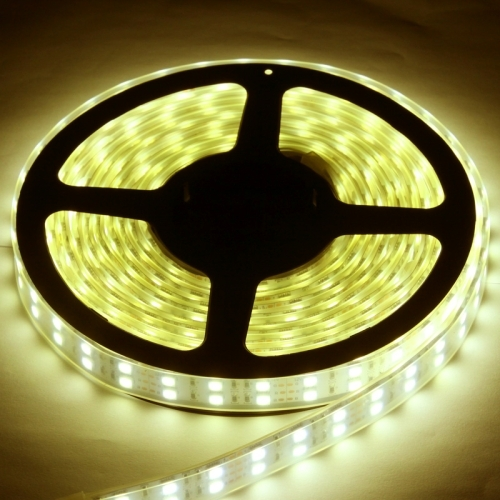 Casing Waterproof Dual Row Warm White LED 5050 SMD Rope Light, 120 LED/M, Length: 5M
