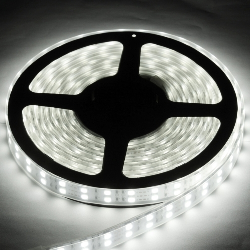 Casing Waterproof Dual Row White LED 5050 SMD Rope Light, 120 LED/M, Length: 5M