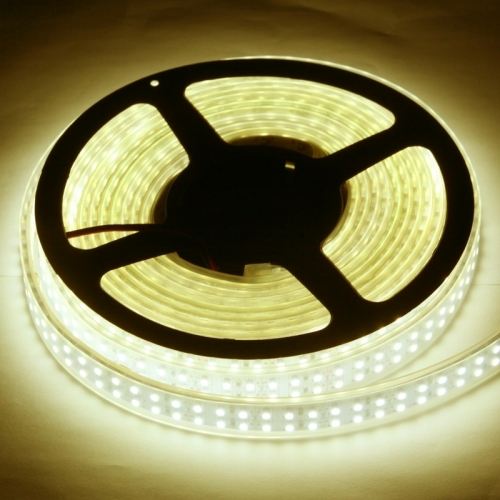 Casing Waterproof Dual Row Warm White LED 3528 SMD Rope Light, 120 LED/M, Length: 5M
