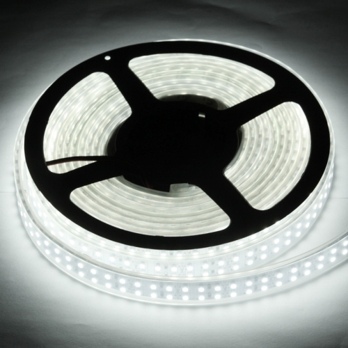 Casing Waterproof Dual Row White LED 3528 SMD Rope Light, 120 LED/M, Length: 5M