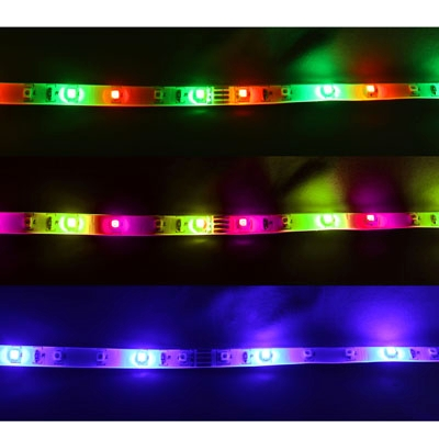 Epoxy Waterproof RGB LED 3528 SMD Rope Light with Remote Controller, 60 LED/M, Length: 5M