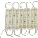20x 3-LED White 5050 SMD LED Module Light Strip, DC 12V