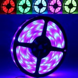 5050 SMD Casing Waterproof RGB LED Light Strip with 12V 5A Power Supply, 30 LED/m and Length: 5m