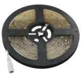 5050 SMD Epoxy Waterproof White LED Light Strip with 12V 5A Power Supply, 30 LED/m and Length: 5m