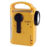 Solar Power Dynamo Hand Cranked Lantern Rescue Light / Multi-function Outdoor Emergency 5 LED Flashlight with AM / FM Radio