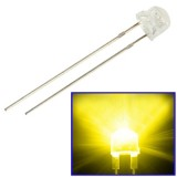 1000pcs 5mm Yellow Light Straw Hat LED Lamp  (1000pcs in one packaging, the price is for 1000pcs)