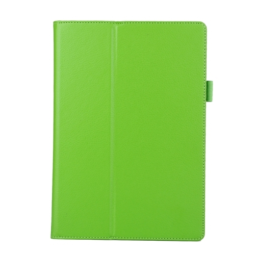 Litchi Texture Horizontal Flip Solid Color Leather Case with Two-Folding Holder for Lenovo Tab2 A10-70 (Green)