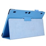 Litchi Texture Horizontal Flip Solid Color Leather Case with Two-Folding Holder for Lenovo Tab2 A10-70 (Blue)