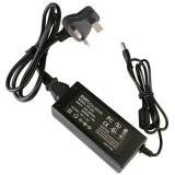 UK Plug 12V 5A 60W AC Power Supply Unit with 5.5mm DC Plug for LCD Monitors Cord, Output Tips: 5.5×2.5mm