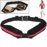 Sports Waterproof Elastic Waist Bag Two Pockets Fanny Pack Zip Pouch  (Magenta)