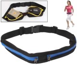 Sports Waterproof Elastic Waist Bag Two Pockets Fanny Pack Zip Pouch  (Blue)