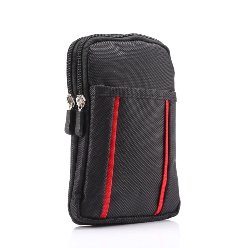 Universal Multifuctional 6.3 Inch Double Lattice Two-colored Polyester Pearl material Storage Waist Packs / Waist Bag / Hiking Bag / Camping Bag