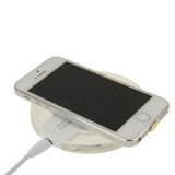 FANTASY Wireless Charger & 8Pin Wireless Charging Receiver for iPhone 6 Plus / 6 / 5S / 5C / 5 (White)