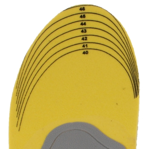 Elasticity Orthotic Arch Support Shoe Pad Sports Running Insoles Cushion for Men, Size: 40-46