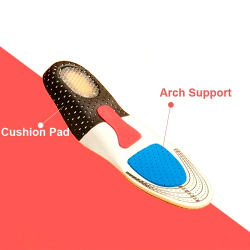 1 Pair Orthotic Arch Support Shoe Pads Sports Running Insoles, Size: 28cm x 9.5cm