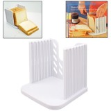 Bread Loaf Toast Kitchen Slicer Cutter Mold Maker Slicing Cutting Guide Tool (White)
