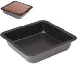 Quadrate Non-stick Pizza / Cake Pan Baking Cooking Oven Tray, Size: 22.5 (L) x 22.5 (W) x 4.6cm (H)