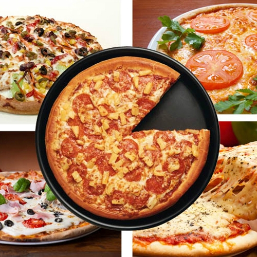 6 inch Round Non-stick Pizza Pan Baking Cooking Oven Tray, Size: 16.5 (D) x 2.2cm (H)
