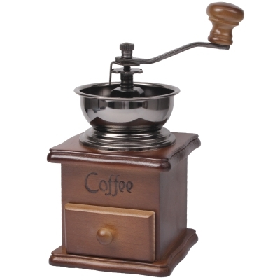 Manual Coffee Mill Wood Stand Bowl Antique Hand Coffee Bean Grinder